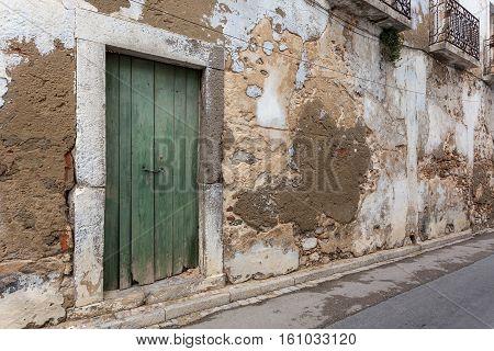 Degraded oldest street of the city of Tavira. Portugal