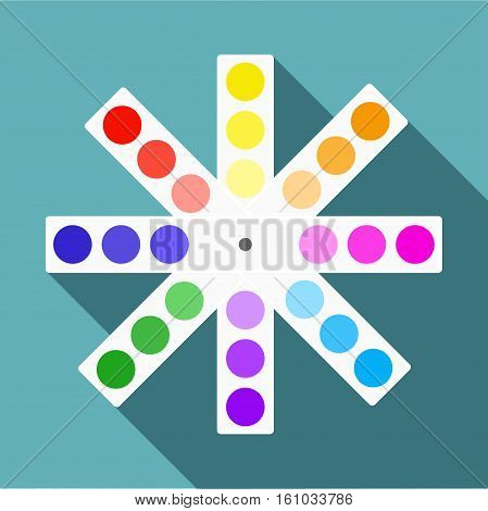 Color palette icon. Flat illustration of color palette vector icon for web design