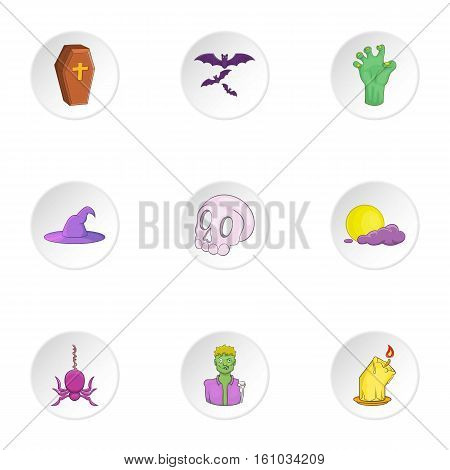Resurrection of dead icons set. Cartoon illustration of 9 resurrection of dead vector icons for web