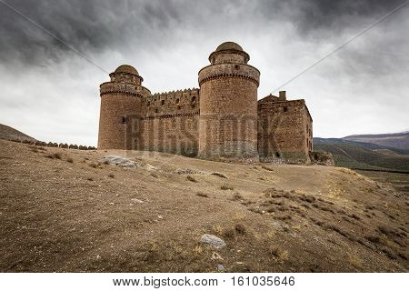 the ancient Castle-Palace in La Calahorra town, Province of Granada, Spain