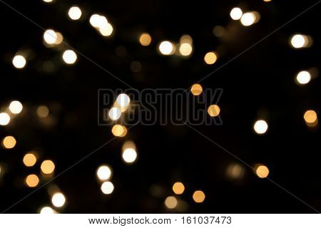 defocused Christmas xmas holiday glowing twinkle lights