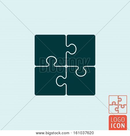 Puzzle icon. Jigsaw puzzles symbol. Vector illustration