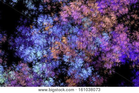 multi colored cloud fractal back ground back drop