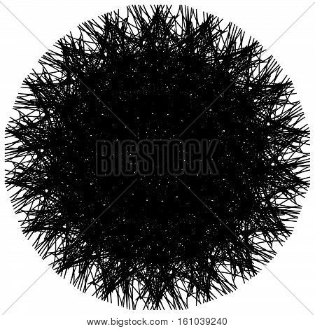 Artistic Circle Shape Made Of Dense Line. Abstract Circle, Circle Shape