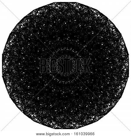 Artistic Circle Shape Made Of Dense Line. Abstract Circle, Circle Shape