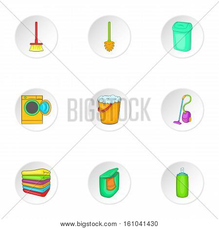 Cleansing icons set. Cartoon illustration of 9 cleansing vector icons for web