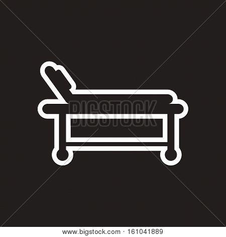 stylish black and white icons medical stretcher