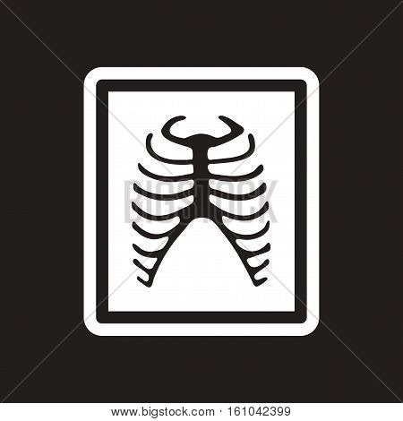stylish black and white icon X-rays of ribs
