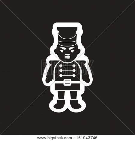 flat icon in black and white nutcracker