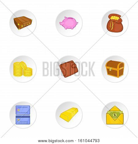 Finance icons set. Cartoon illustration of 9 finance vector icons for web
