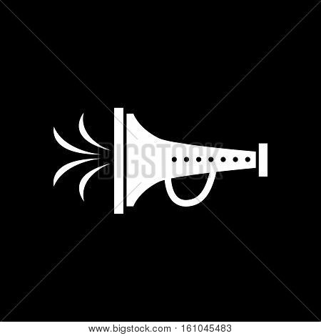 Flat icon in black and white  mouthpiece