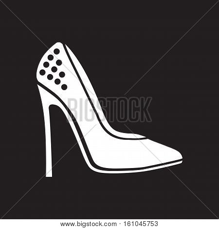 Flat icon in black and  white  stilettos