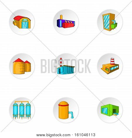 Production icons set. Cartoon illustration of 9 production vector icons for web