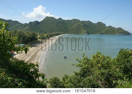 Typical view of Khao Sam Roi Yot National Park, Thailand