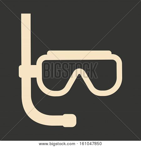 Flat in black and white mobile application diving Mask