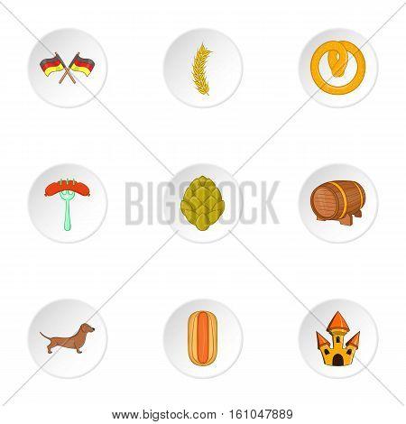 German Republic icons set. Cartoon illustration of 9 German Republic vector icons for web