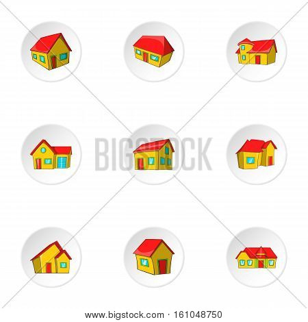 Structure icons set. Cartoon illustration of 9 structure vector icons for web