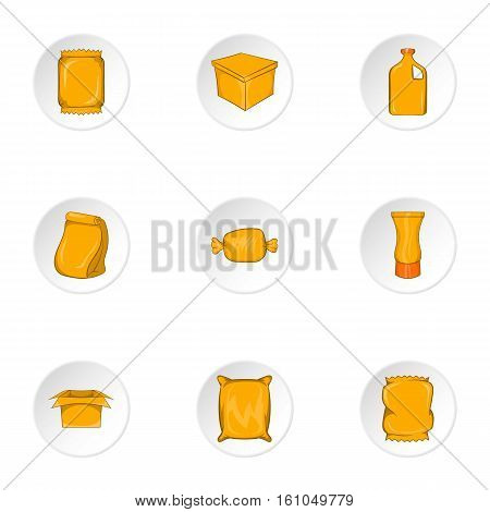 Packaging icons set. Cartoon illustration of 9 packaging vector icons for web