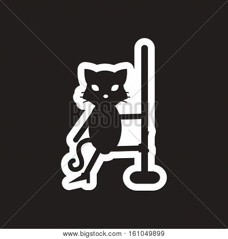 style black and white icon cat stripper
