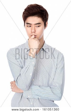East Asian Korean young man studio portrait