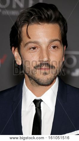 Diego Luna at the World premiere of 'Rogue One: A Star Wars Story' held at the Pantages Theatre in Hollywood, USA on December 10, 2016.