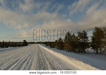 Landscape, scenery, views, winter, landscape, road, winter, snow, Snina garoga, forest, trees, flora, pine, winter road