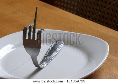 A unique way to say fork you as pictured here.