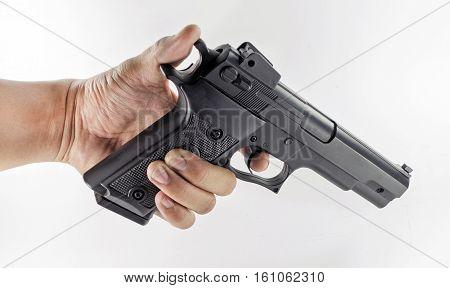Hand Holding A Handgun
