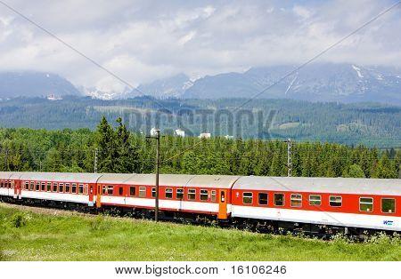 train in Vysoke Tatry, Slovakia
