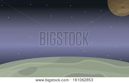 Space planet of landscape vector collection stock