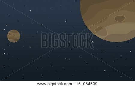 Planet space cartoon background vector collection stock