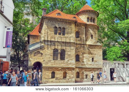 Prague, Czech Republic - July 11, 2016 : Staronowa (old-new) Synagogue, Situated In Josefov, Prague,