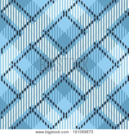 Tartan seamless vector patterns in white-blue colors