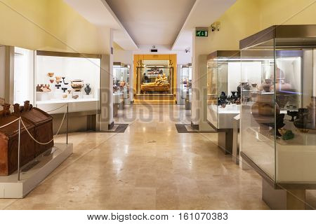 Halls Of National Etruscan Museum In Rome City