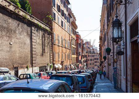 Street Via Francesco Crispi In Rome