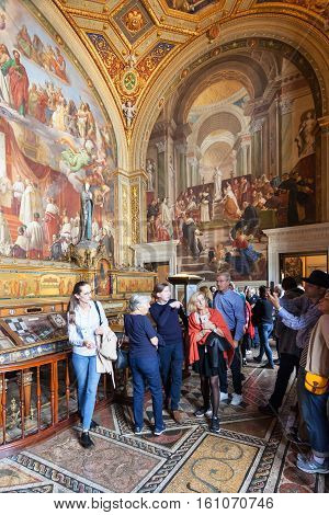 Visitors In The Immaculate Conception Room