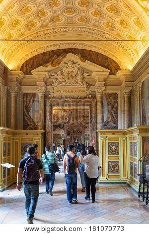 Visitors In Vatican Museums