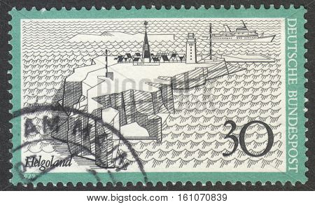 MOSCOW RUSSIA - CIRCA NOVEMBER 2016: a post stamp printed in GERMANY shows a view of Heligoland the series