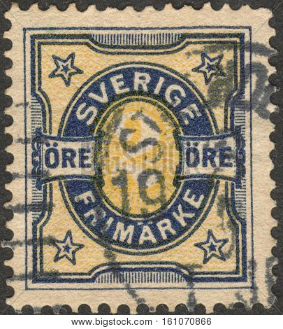 MOSCOW RUSSIA - CIRCA NOVEMBER 2016: a post stamp printed in SWEDEN the series