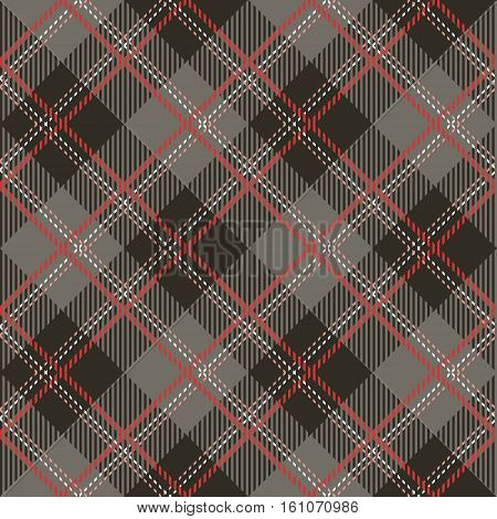 Tartan seamless vector patterns in pink-gray colors