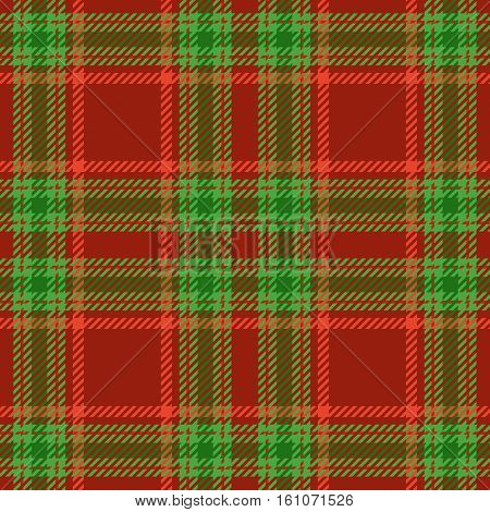 Christmas tartan seamless vector patterns in grin and red colors