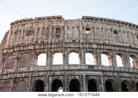 Wall Of Ancient Roman Amphitheater Colosseum