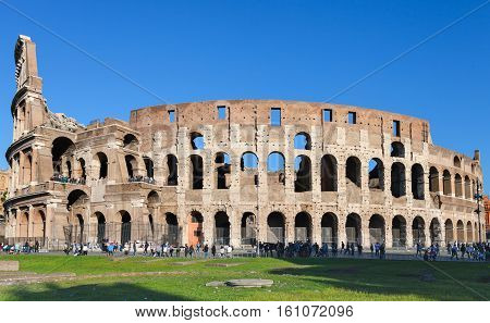 Ancient Roman Amphitheatre Colosseum In Rome