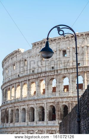 Urban Lantern And Colosseum On Background