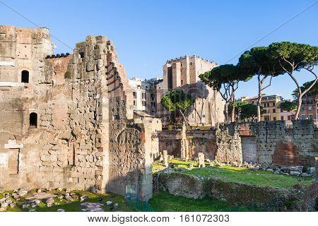 Forum Of Nerva And Torre Dei Conti In Rome City