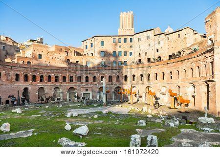 Trajan Market Of Trajan's Forum In Rome City