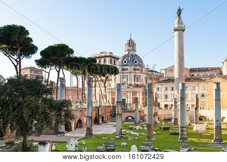 Trajan's Forum, Trajan Column In Roman Forums