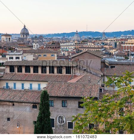 View Of Old Rome City From Capitoline Hill