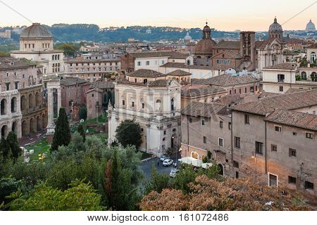 View Of Old Rome Town From Capitoline Hill