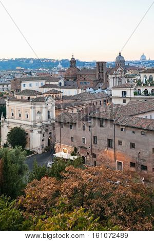 View Of Houses Of Old Rome City From Capitoline
